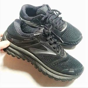Brooks Adrenaline GTS 18, Black running shoes, 7